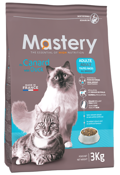 Aliment pour Chat adulte au Canard - Mastery